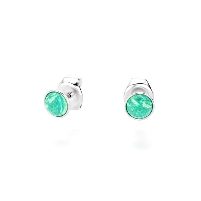 boucles oreilles en argent collection cocktail et cabochon amazonite