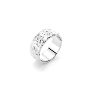 Bajoia bague texture en or blanc avec diamants